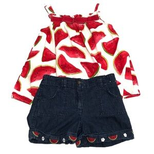 Gymboree Watermelon Picnic Outfit Set